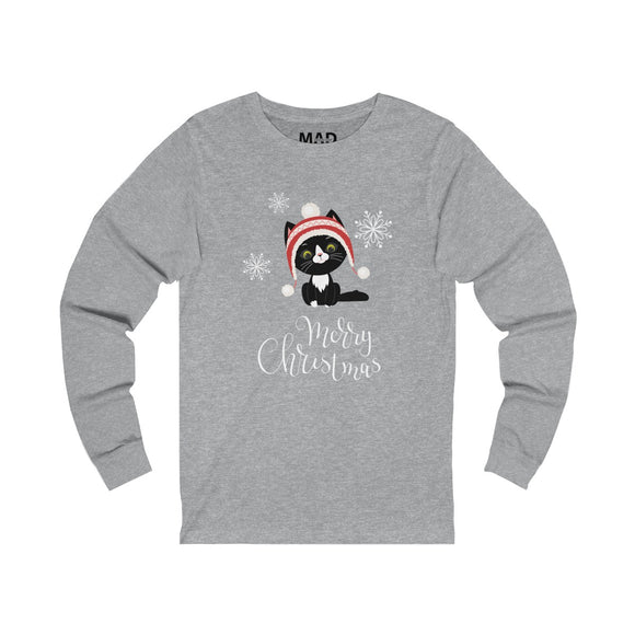 Christmas Kitten Long Sleeve T-Shirt