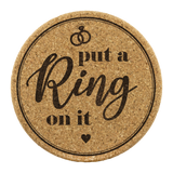 Put a Ring on It Cork Coaster (Set of 4)