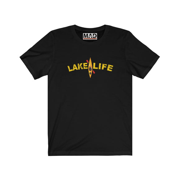 Lake Life Yellow Kayak  T-Shirt