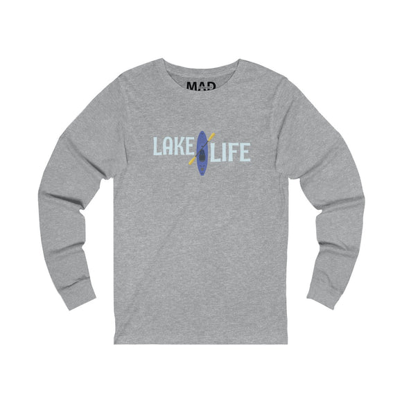 Lake Life Blue Kayak Long Sleeve T-Shirt