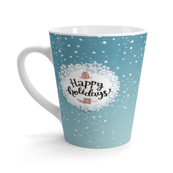 Happy Holidays Latte Mug