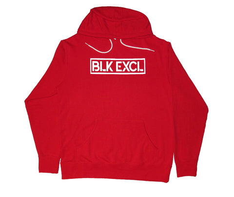 BLK EXCL BOLD RED HOODIE