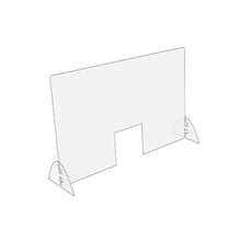"Load image into Gallery viewer, Standard Sneeze Guard | Horizontal 32"" W x 24"" H"