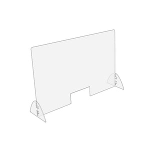 "Standard Sneeze Guard | Horizontal 32"" W x 24"" H"