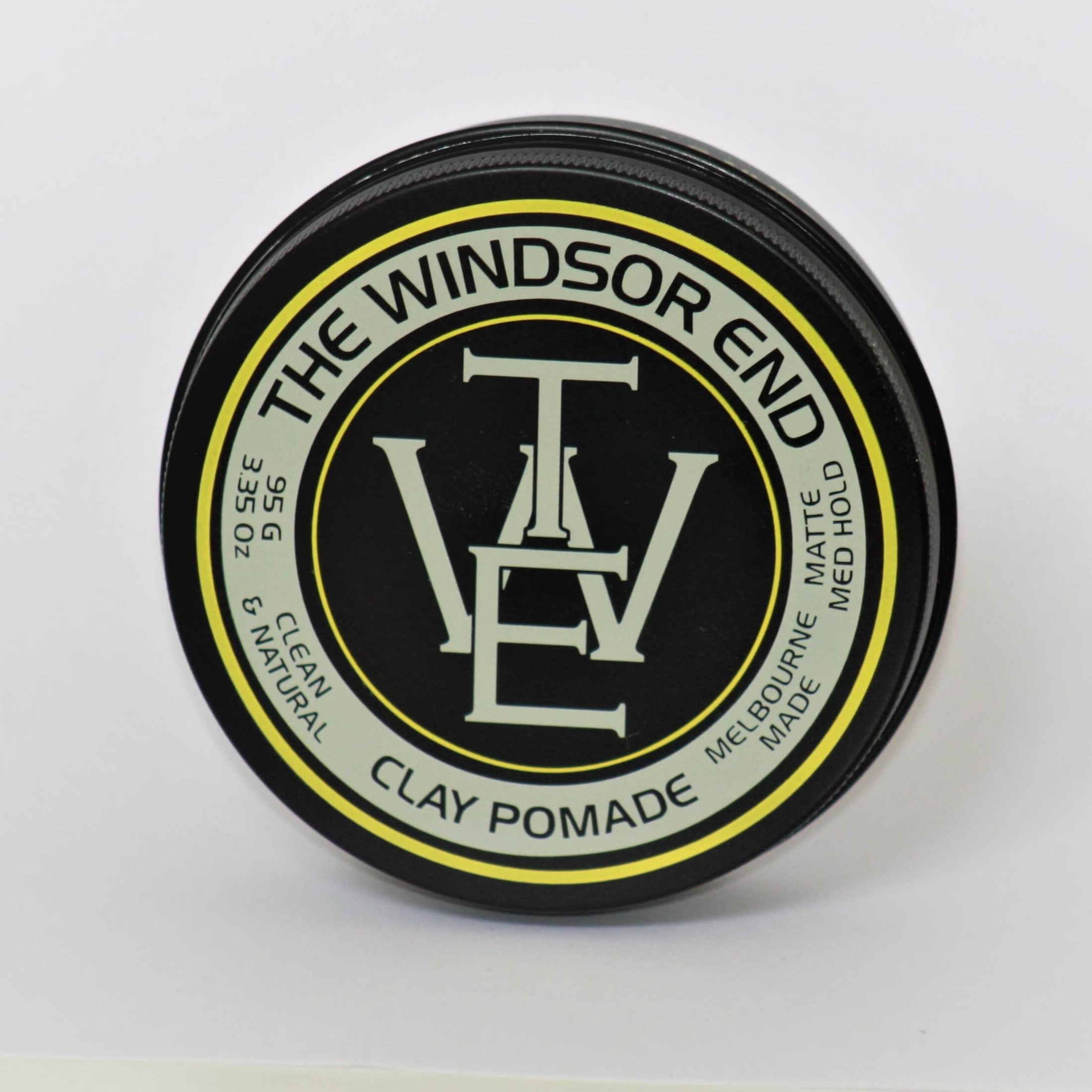 The Windsor End clay pomade natural vegan palm oil free clean no chemicals synthetics hemp seed oil kakadu plum kaolin clay orange essential oil order online buy