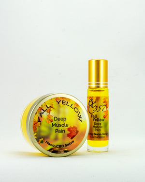 Fall Yellow - Natural Herbal Salves & Roller w/ Nano Hemp for Deep Muscle Pain