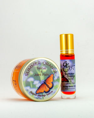 Summer Orange - Natural Herbal Salve & Roller w/ Nano Hemp for Nerve and Joint Pain