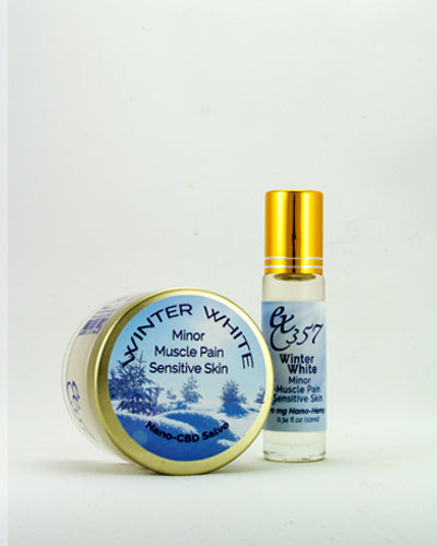 Winter White - Natural Herbal Salve & Roller w/ Nano Hemp for Minor Muscle Pain with Sensitive Skin