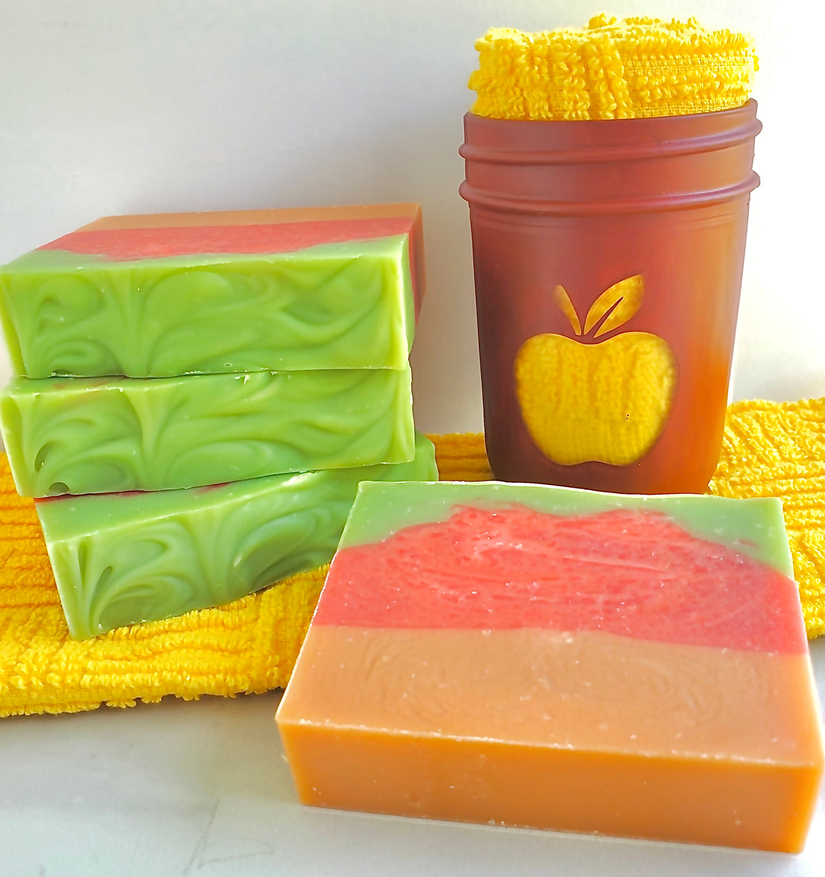 Spicy Peaches & Apples Shea Luxury Soap