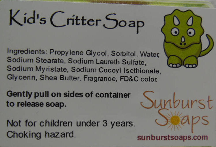 Kids Critter Soap - Spiders, Insects, or Snakes