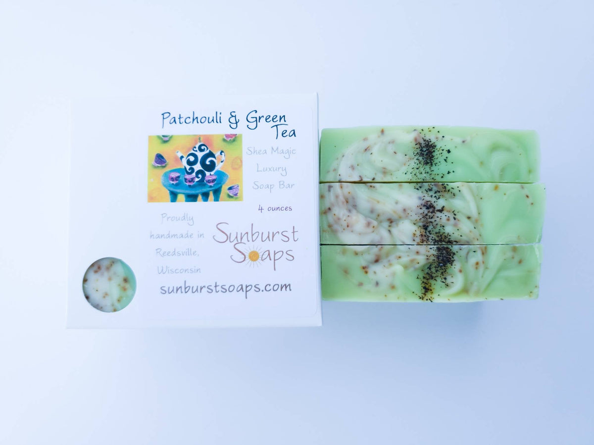 Patchouli & Green Tea Shea Magic Luxury Soap