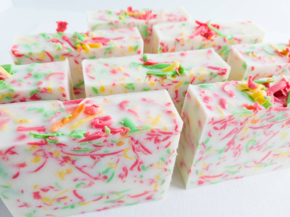 Spicy Apple Confetti Triple Butter Glycerin Soap