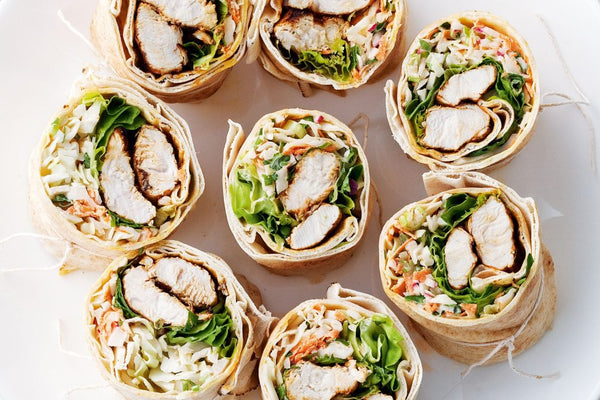 Super Easy Greek Chicken Wraps