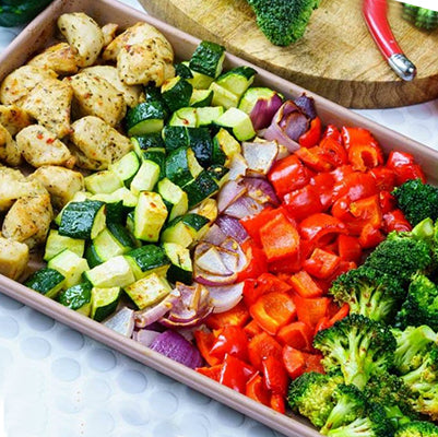 Roast Chicken & Rainbow Veggies