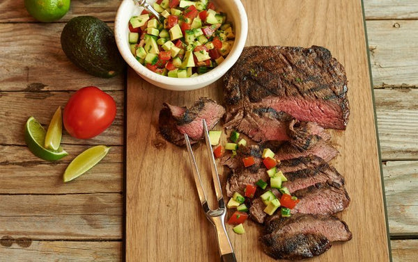 Avocado Salsa With Steak