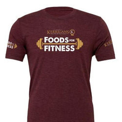 Foods For Fitness T-shirt Maroon
