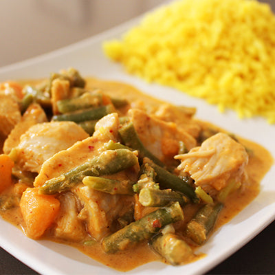 Massaman Chicken Curry with Yellow Rice (400g)
