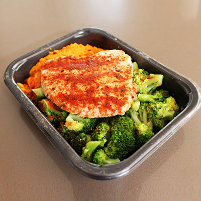 Cajun Turkey with Sweet Potato Mash & Broccoli (400g)