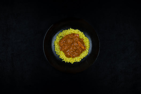 Breast Of Chicken Tikka Masala With Yellow Power Rice