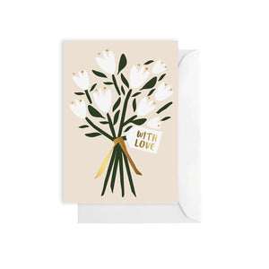 Flower Bunch | With Love | Blank Card