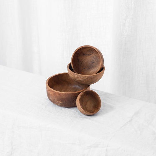 Nesting Teak Bowls | Set Of 4