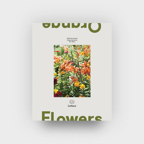 Puzzle Orange Flowers | Lettuce