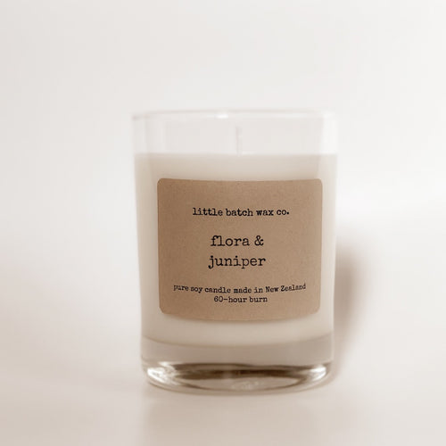 Flora and Juniper Candle | Little Batch Wax Co