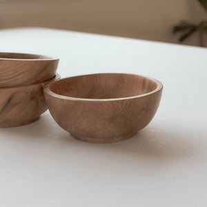 Natural Teak Salt Bowl