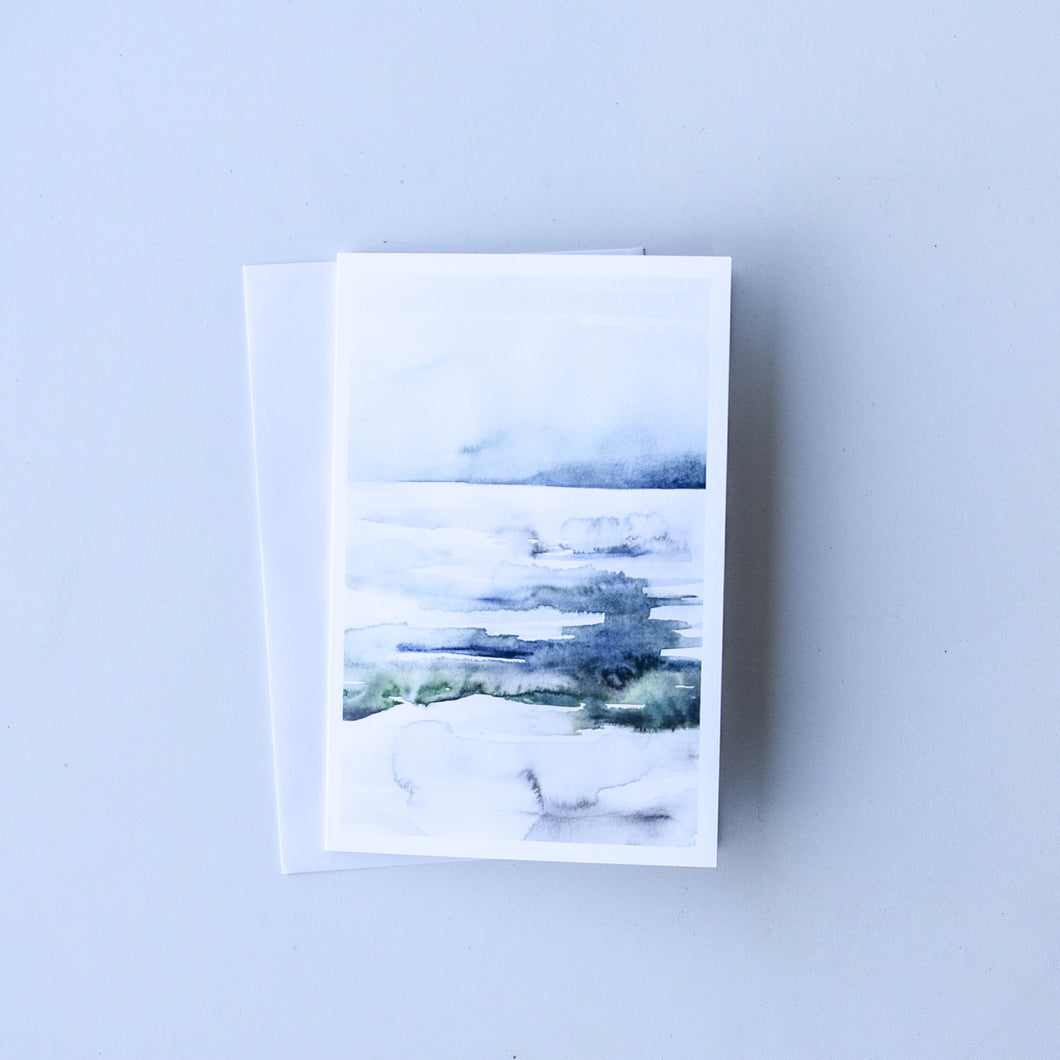 Watercolour Lake | Blank Card