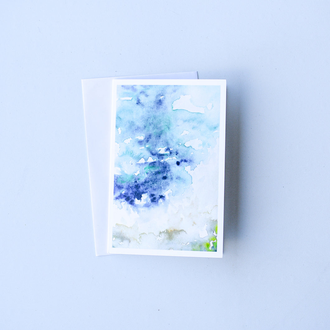 Watercolour Coast | Blank Card