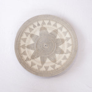 Grey + White Rattan Tray | 60 cm