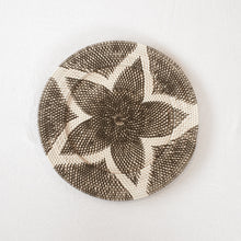 Load image into Gallery viewer, Black + White Rattan Tray | 50 cm