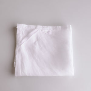 Vintage Linen Tea Towel - White