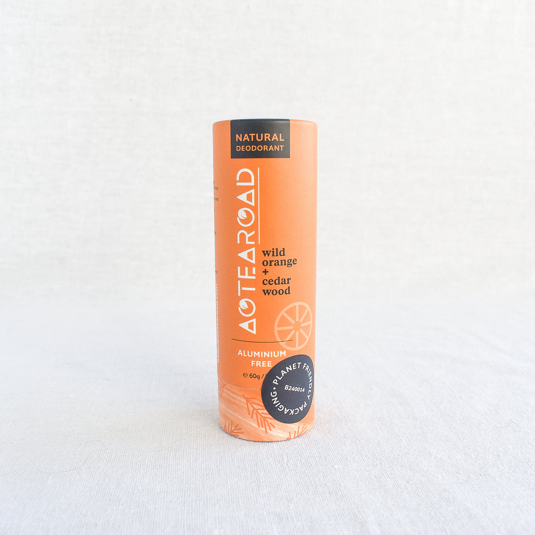 Aotearoad Natural Deodorant    Wild Orange + Cedarwood