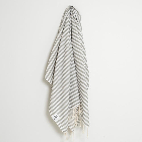 St Tropez Turkish Towel Grey