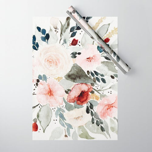 Wrapping Paper Sheet | Watercolour Bouquet