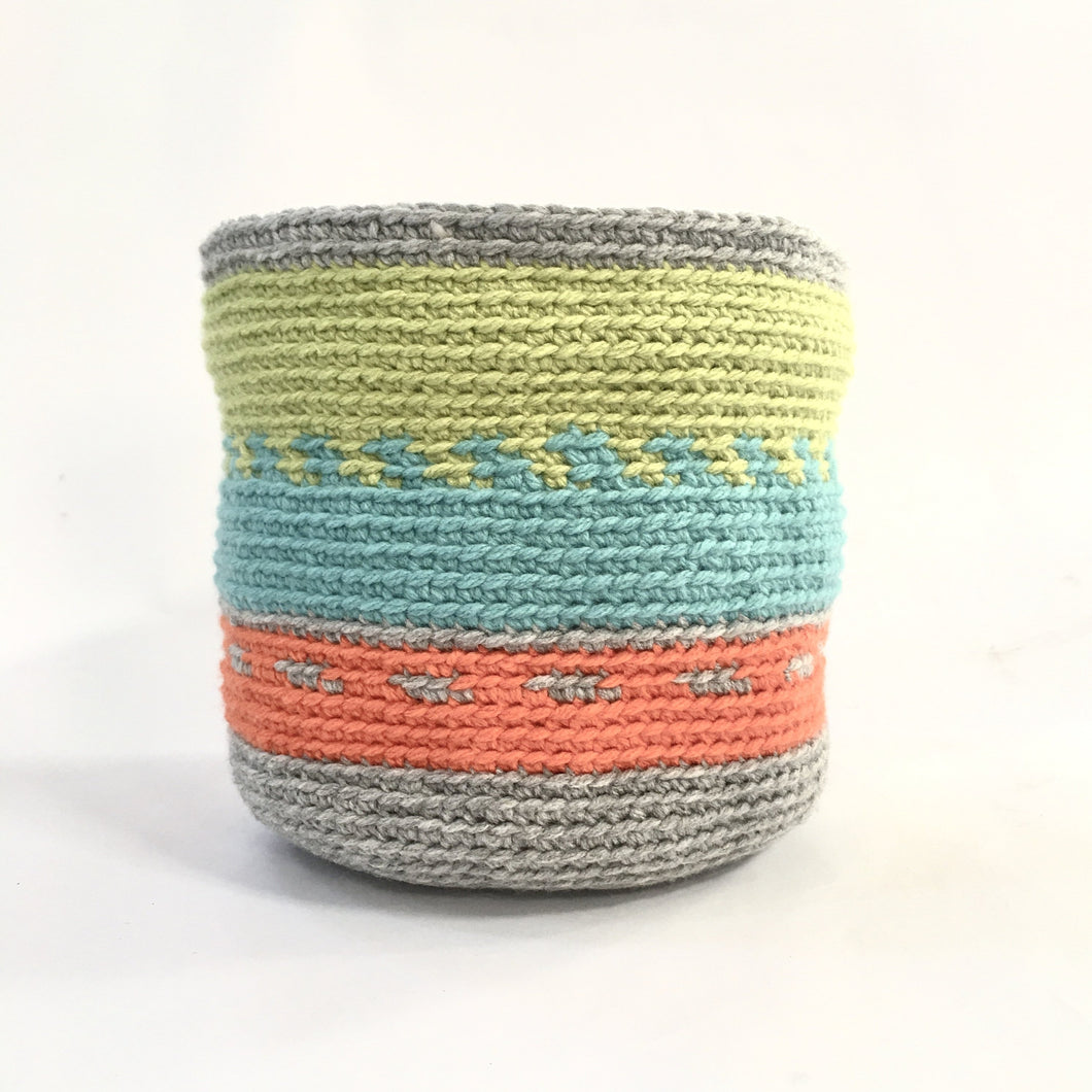 crocheted baskets perfect for storing your special treasures.  Ideal as a plant holder too!  So many colours available.