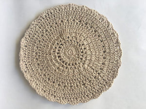 Hand crocheted cotton place mats.