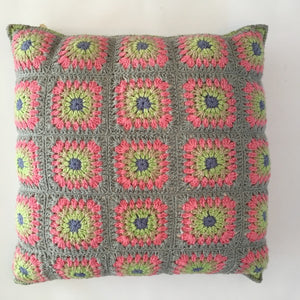hand crocheted cushion cover