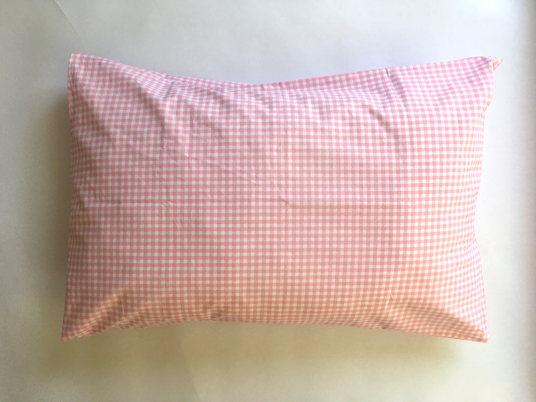 Pillow case handmade from silky soft 100% percale cotton.