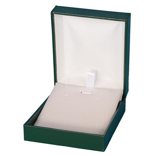 Green Leatherette Pendant Box