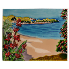 Beach Scene Ceramic Tile