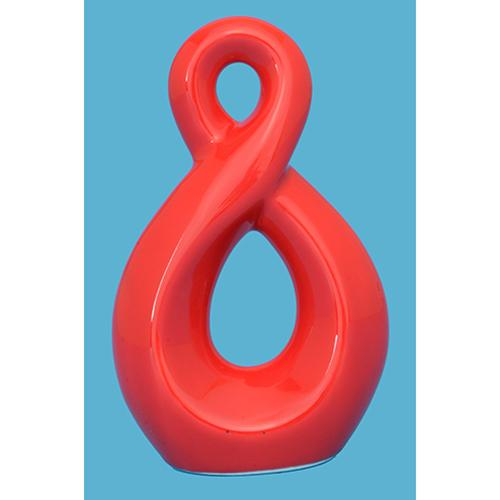 Ceramic Red Twist Ornament