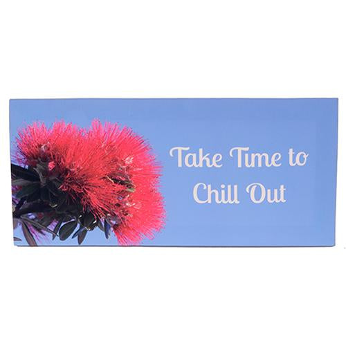 Pohutukawa canvas Take time