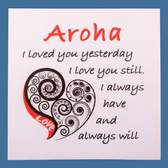 Aroha Stretched Canvas