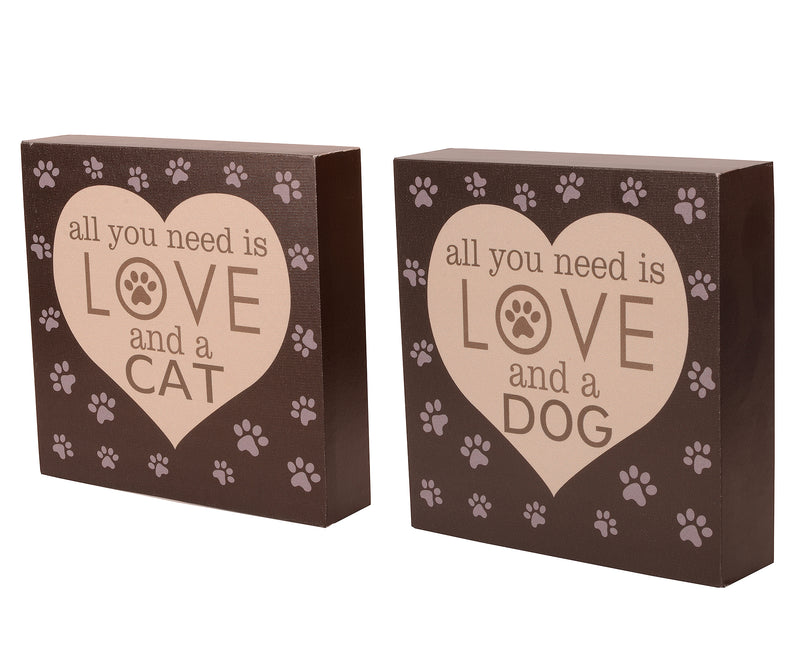 Cat/ Dog Canvas Block Set