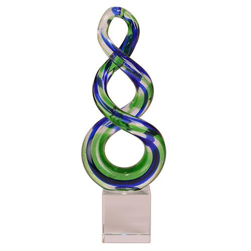 Glass Double Twist Ornament