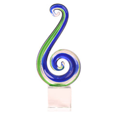 Glass Koru Tail Ornament
