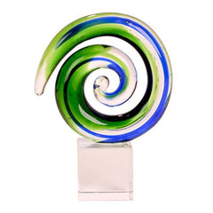 Glass Round Koru Ornament