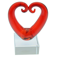 Glass Kissing Koru Heart